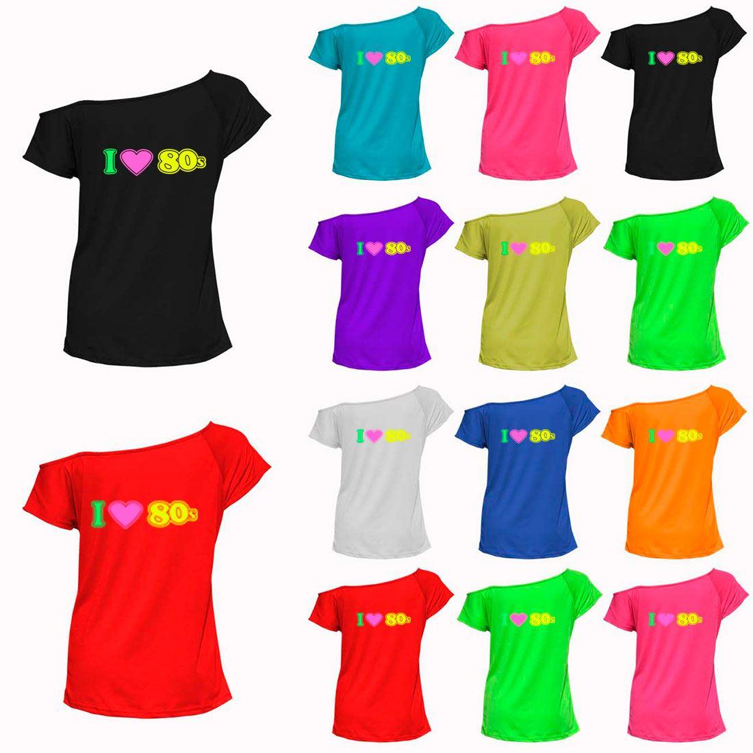 Black I Love The 1980s Retro T-Shirt Party Hen Night Fancy Dress Top 6018735®