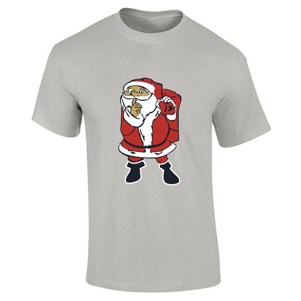 Santa-Claus-Imprime-T-Shirt-Garcons-Homme-Joyeux-Noel-a-Manches-Courtes-Top-Tee-Lot miniature 16