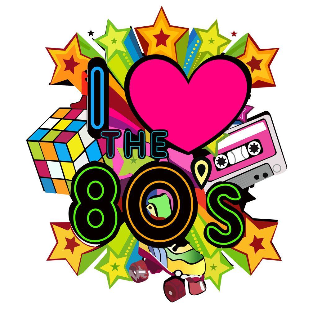 I Love The 80 vintage Eighty's Pop Star Iron On Heat T ...