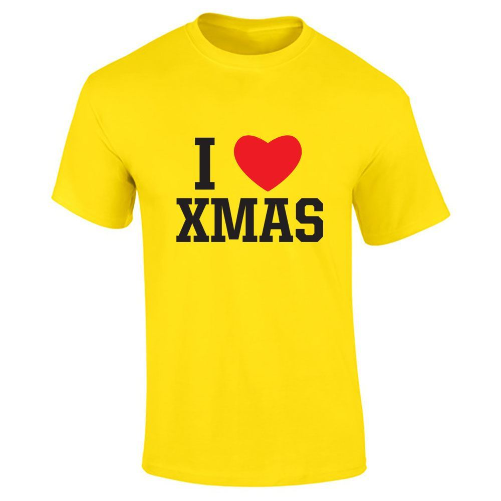 Hommes-T-Shirt-I-Love-Noel-Top miniature 12