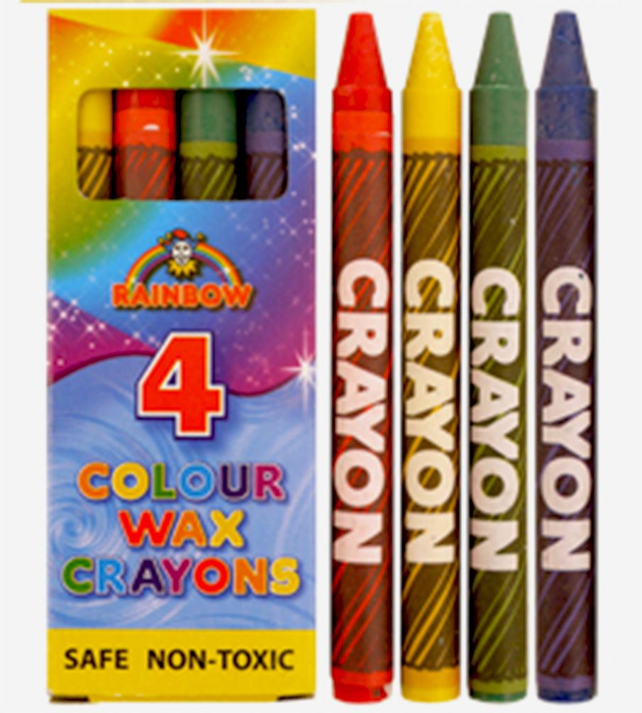 4 Mini Coloring Crayons Pack Assorted Colours Childrens Pencil Set ...