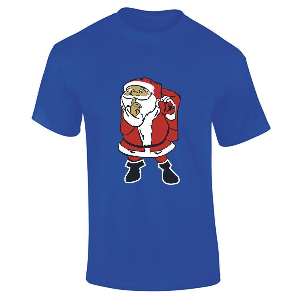Santa-Claus-Imprime-T-Shirt-Garcons-Homme-Joyeux-Noel-a-Manches-Courtes-Top-Tee-Lot miniature 14