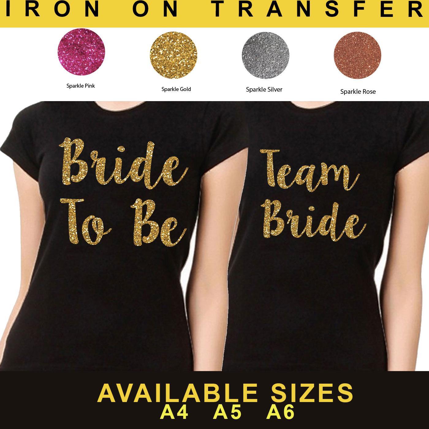 Flower Girl Hen Do Party Vinyl Iron On Transfer T Shirt Sparkle Custom Top 7721