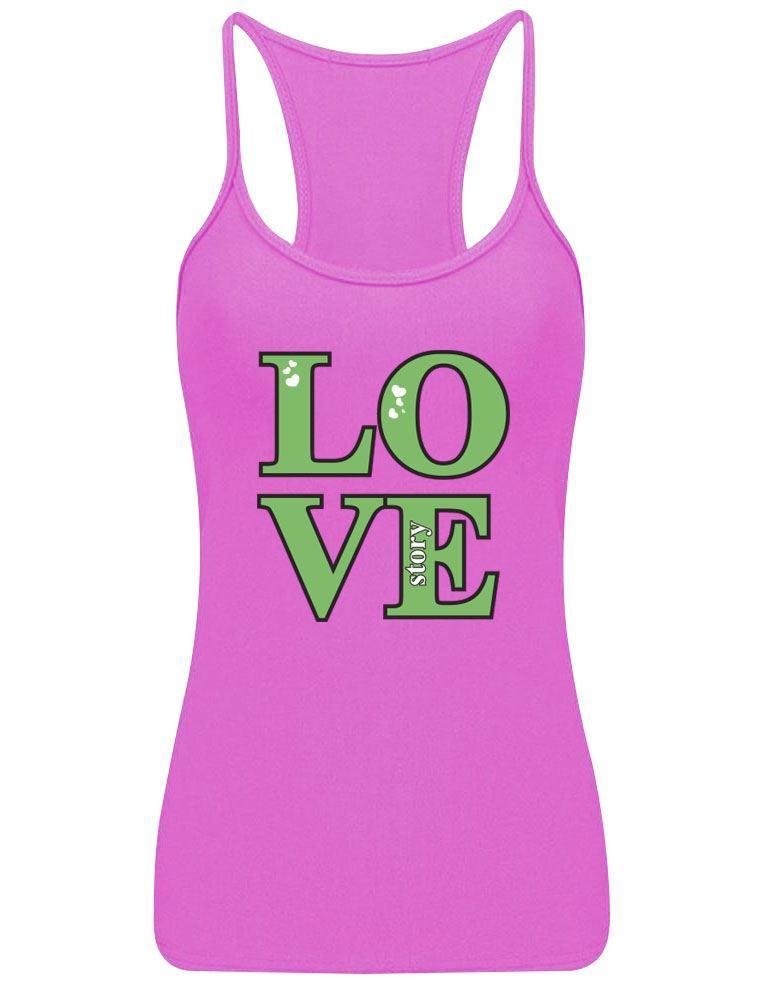 Diseno-impreso-para-mujer-historia-de-amor-Chaleco-Top-de-verano-con-tiras-Racerback-Sports-Wear