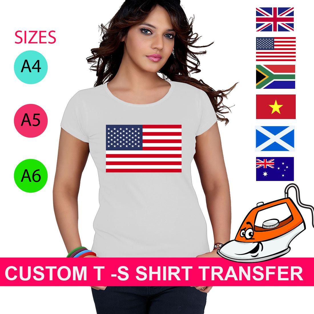 iron on T-shirt Transfer Saudi Arabia Flag A5 or A4