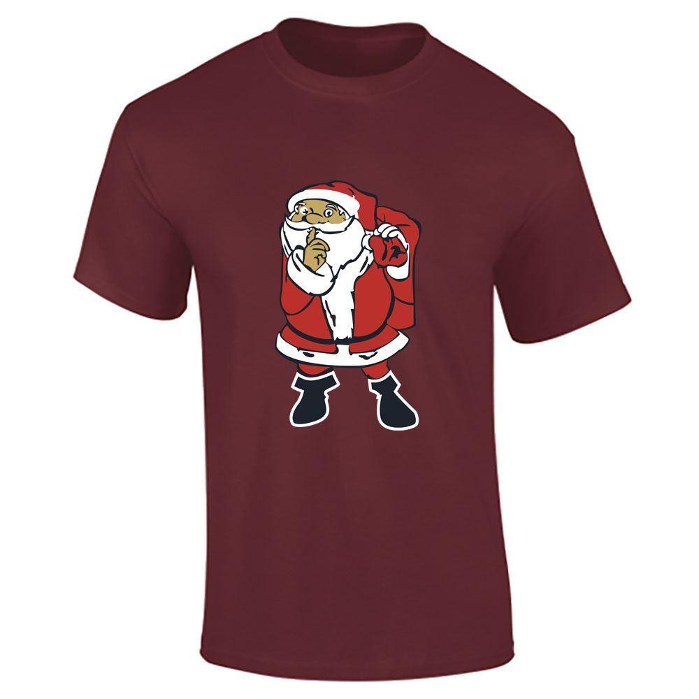 Santa-Claus-Imprime-T-Shirt-Garcons-Homme-Joyeux-Noel-a-Manches-Courtes-Top-Tee-Lot miniature 6