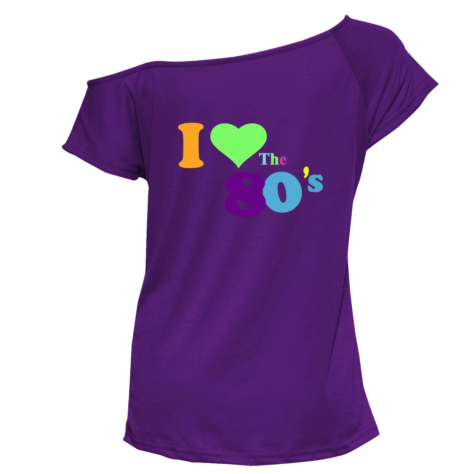 Ladies i love the 80s fancy dress t shirt retro hen night for Retro t shirts uk