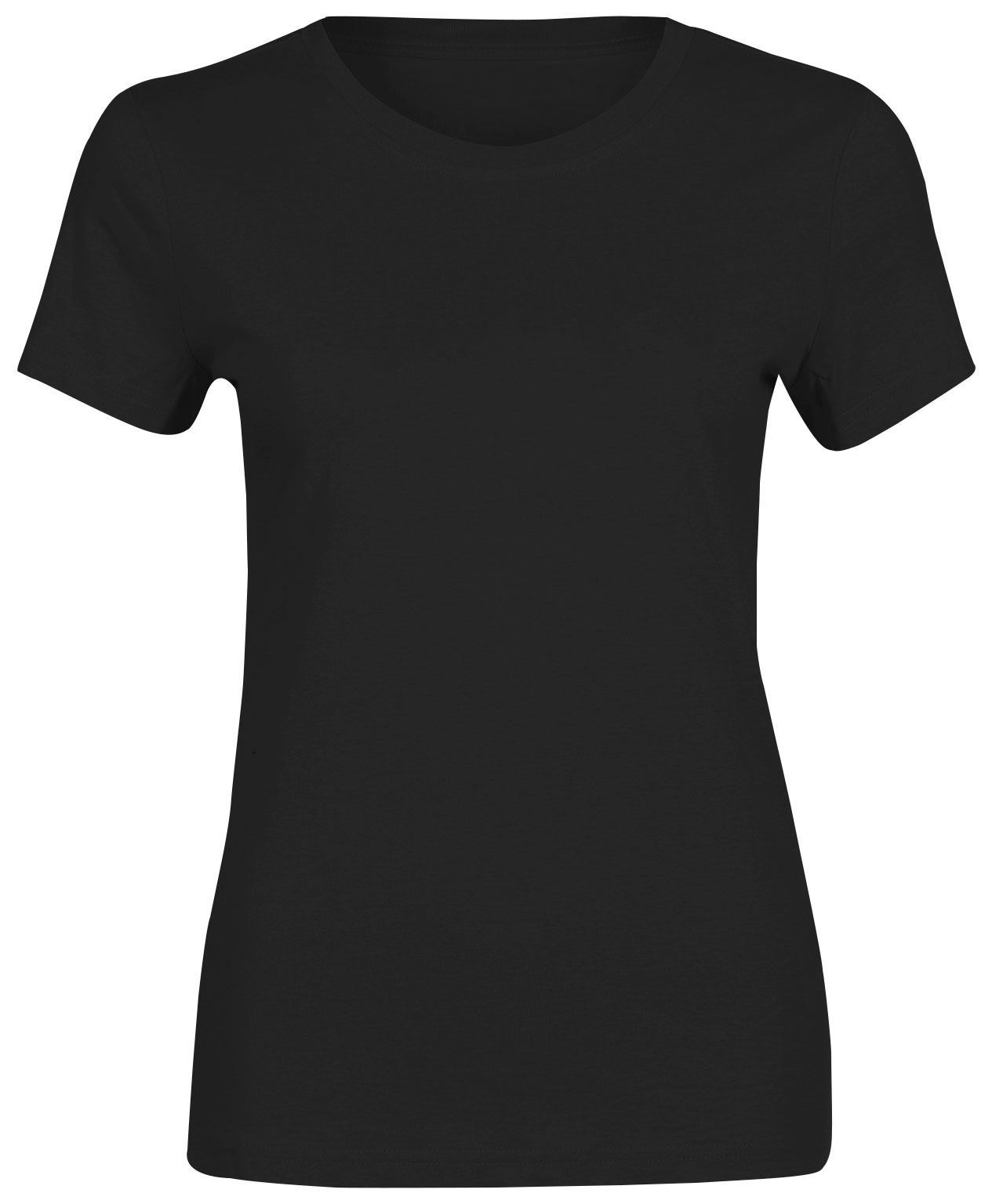 Womens Girls Short Sleeve T Shirt Plain Pure Cotton Tees ...