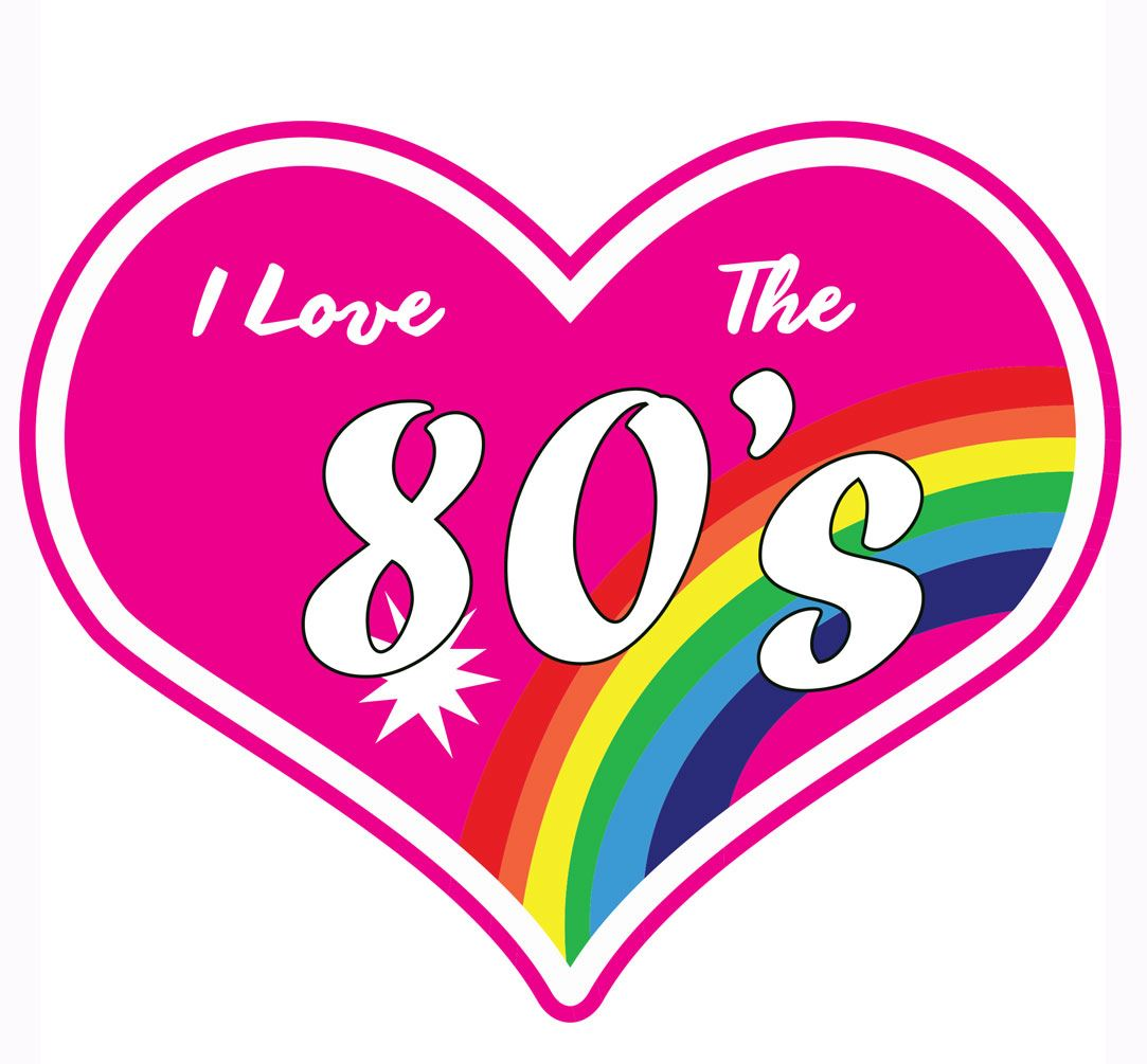 I love the 80s heart 1980s classic 1980 flash back iron on for Classic house 80s