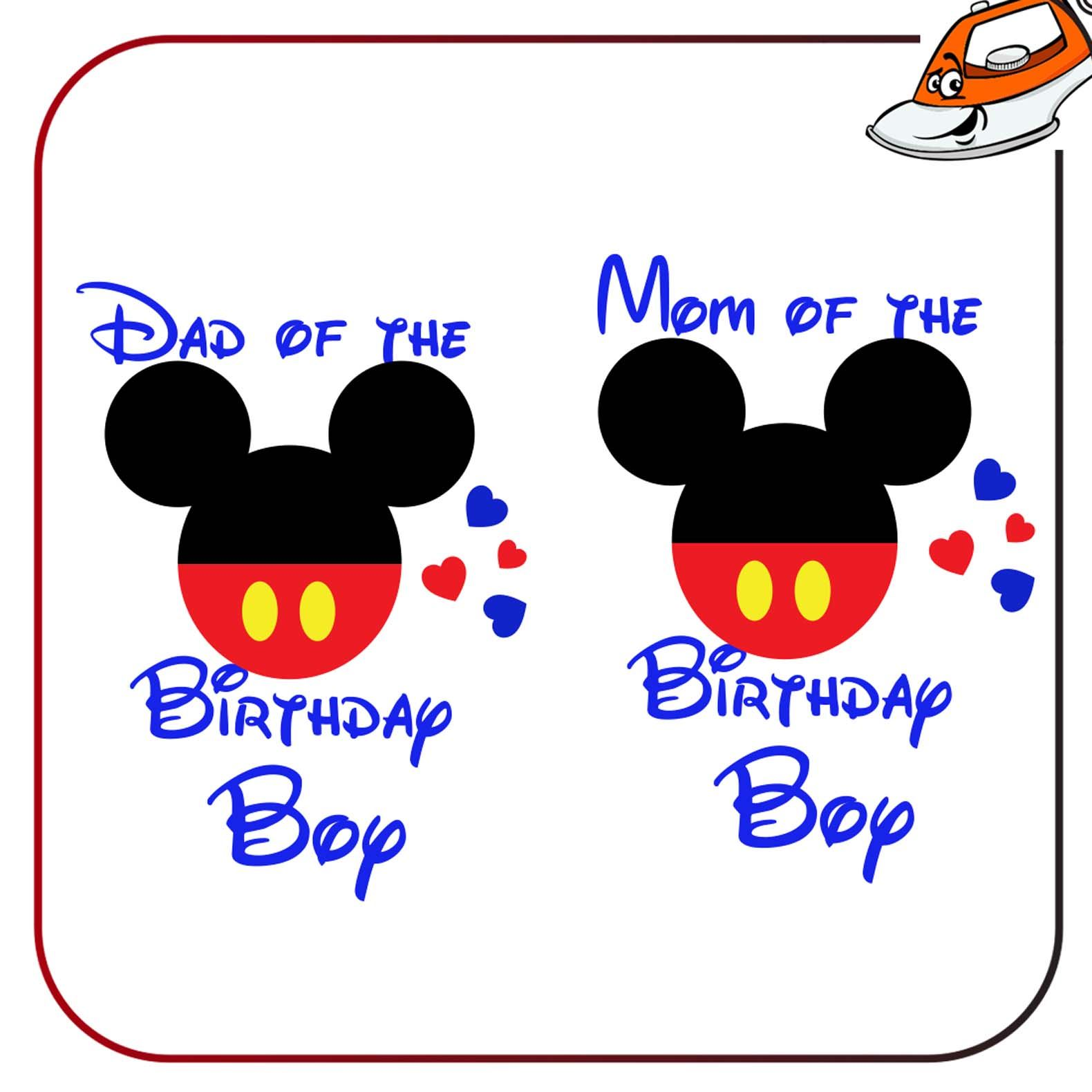 Details About Mom Dad Of The Birthday Boy Iron On T Shirt Transfer Vinyl Print Sticker Party