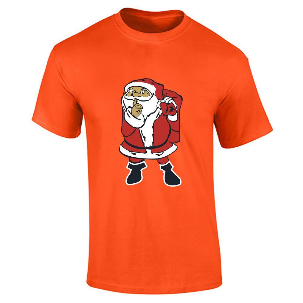 Santa-Claus-Imprime-T-Shirt-Garcons-Homme-Joyeux-Noel-a-Manches-Courtes-Top-Tee-Lot miniature 12