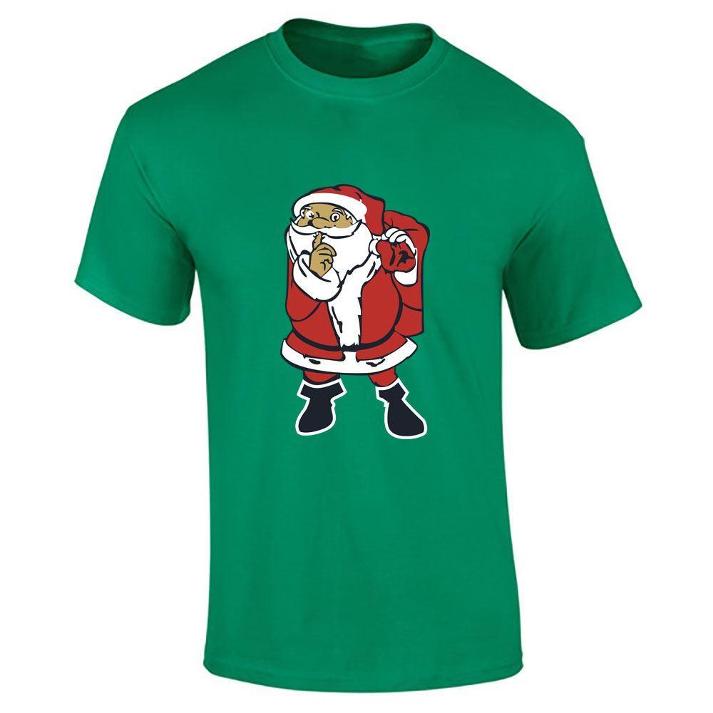 Santa-Claus-Imprime-T-Shirt-Garcons-Homme-Joyeux-Noel-a-Manches-Courtes-Top-Tee-Lot miniature 15