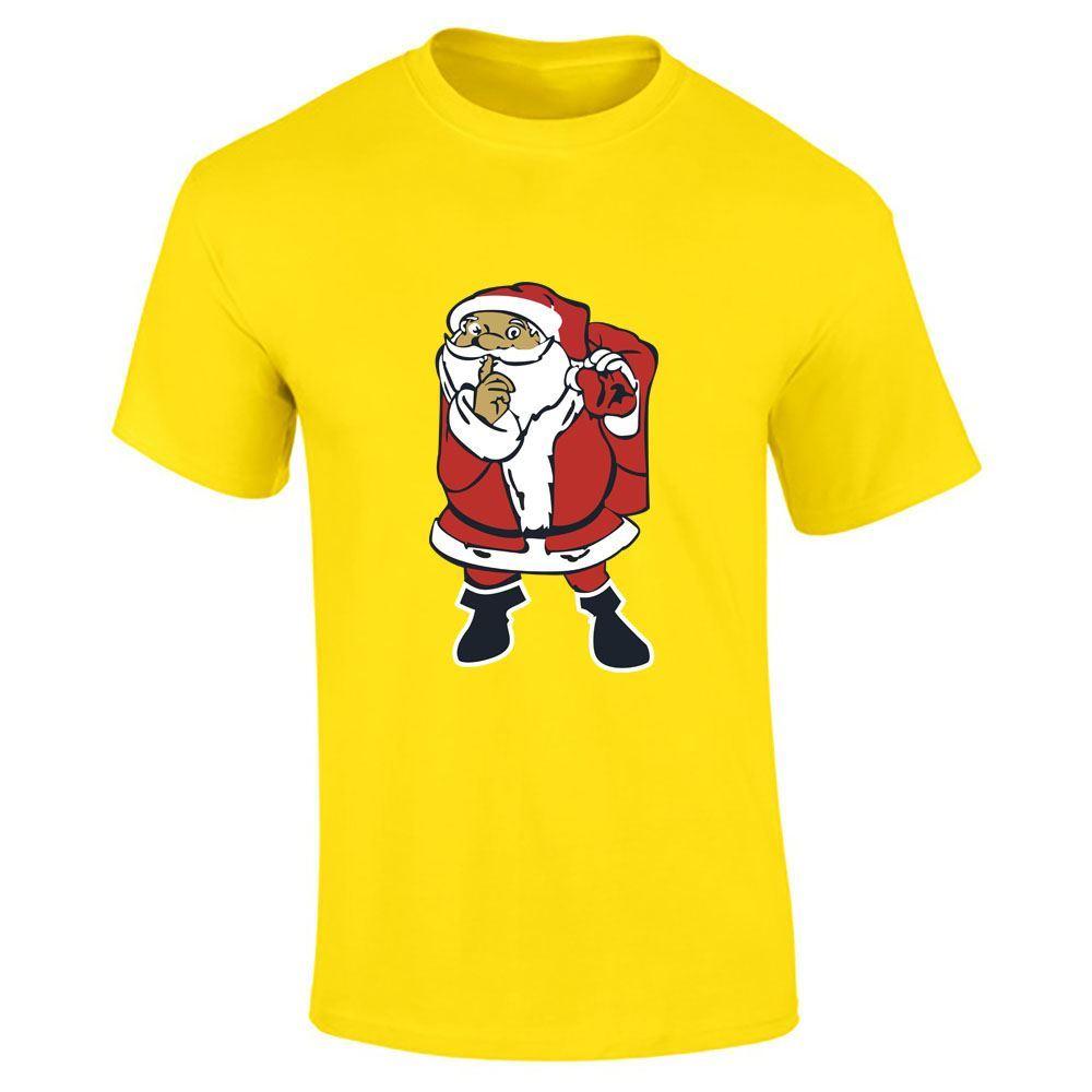 Santa-Claus-Imprime-T-Shirt-Garcons-Homme-Joyeux-Noel-a-Manches-Courtes-Top-Tee-Lot miniature 11