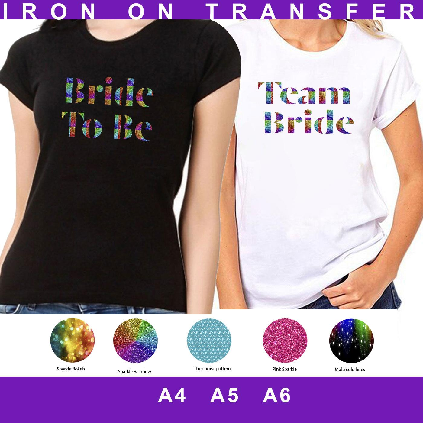 A5 TEAM BRIDE HEN PARTY NIGHT TRIBE ROSE GOLD IRON ON VINYL T SHIRT TRANSFER