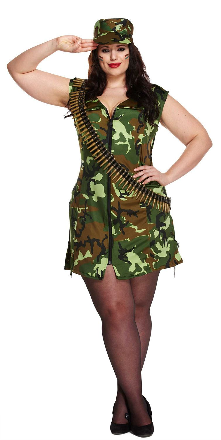 Ladies Sexy Army Lady Soldier Womens Camouflage Military