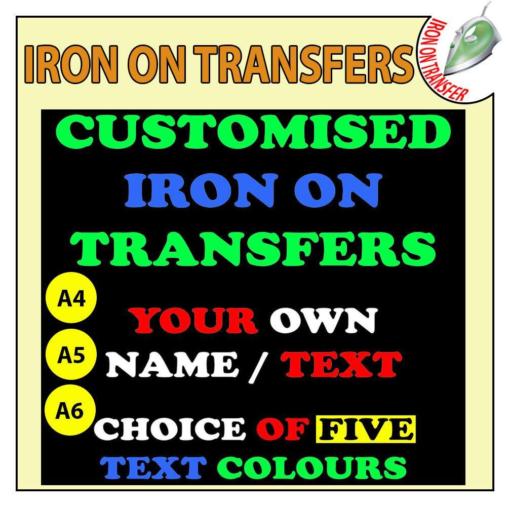 Personnalisé Iron On T-Shirt Transfert Thermique votre texte Kids Hen Do Sparkle Vinyl