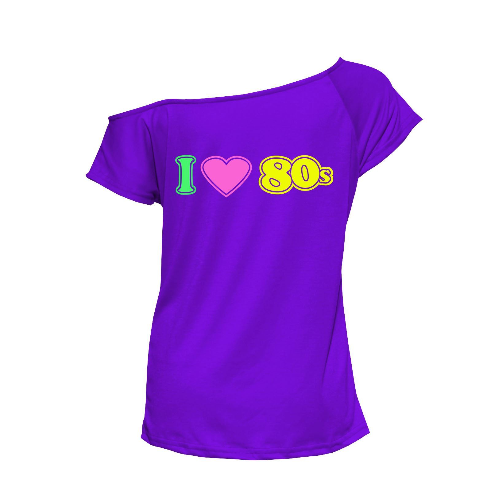 Ladies I Love The 80s Dance Party Wear Outfit 80s Fancy Dress Top T ...