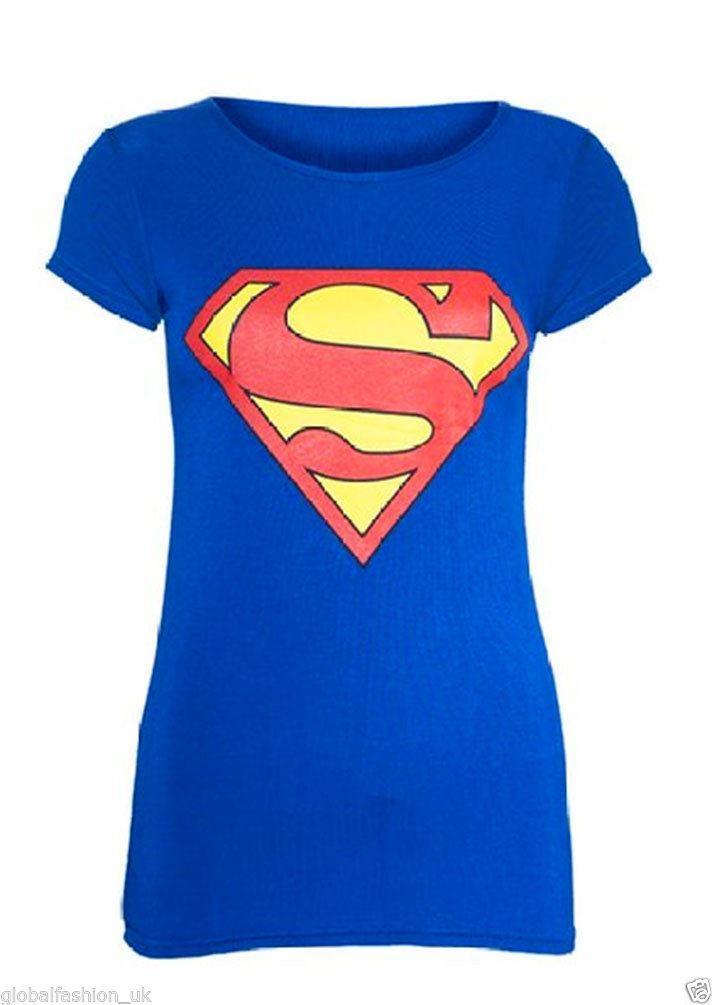 Womens-Ladies-Batman-Superman-Short-Sleeve-T-Shirt-Top-Girls-Superhero-Vest-Tees