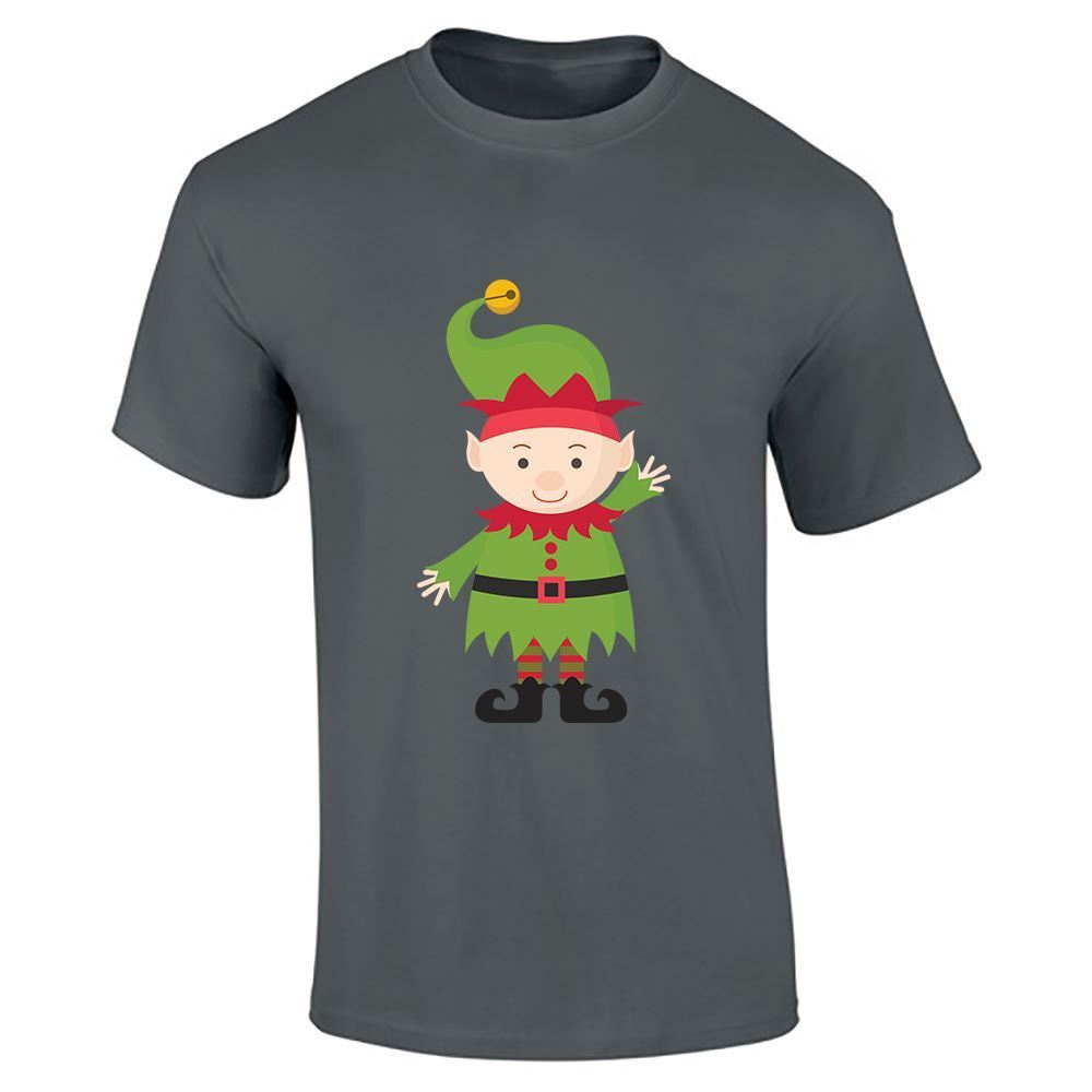 Christmass elf mens boys funny cartoon novelty printed for Best place to get t shirts printed