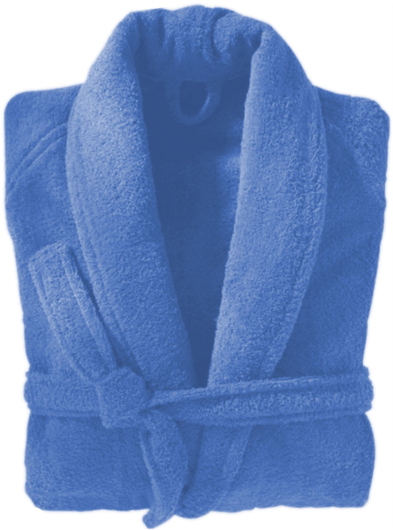 225d0b0cfc Details about Mens   Ladies 100% Cotton Terry Towelling Shawl Collar Bath Robe  Dressing Gown
