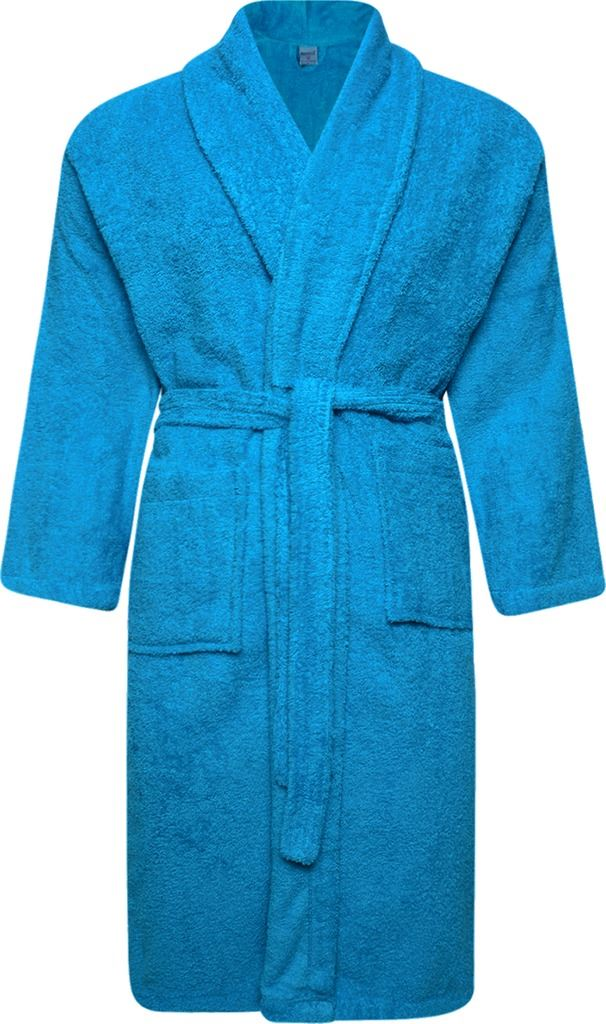 100% Cotton Dressing Gown Terry Towelling Shawl Collar Bath Robe ...