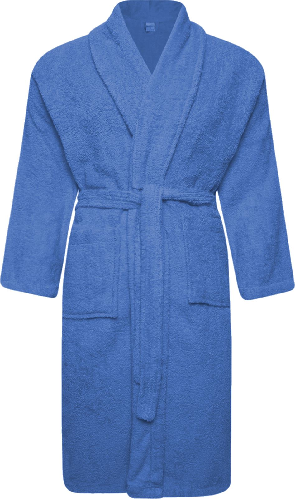 Mens & Womens 100 Cotton Terry Towelling Shawl Collar Bath Robe ...