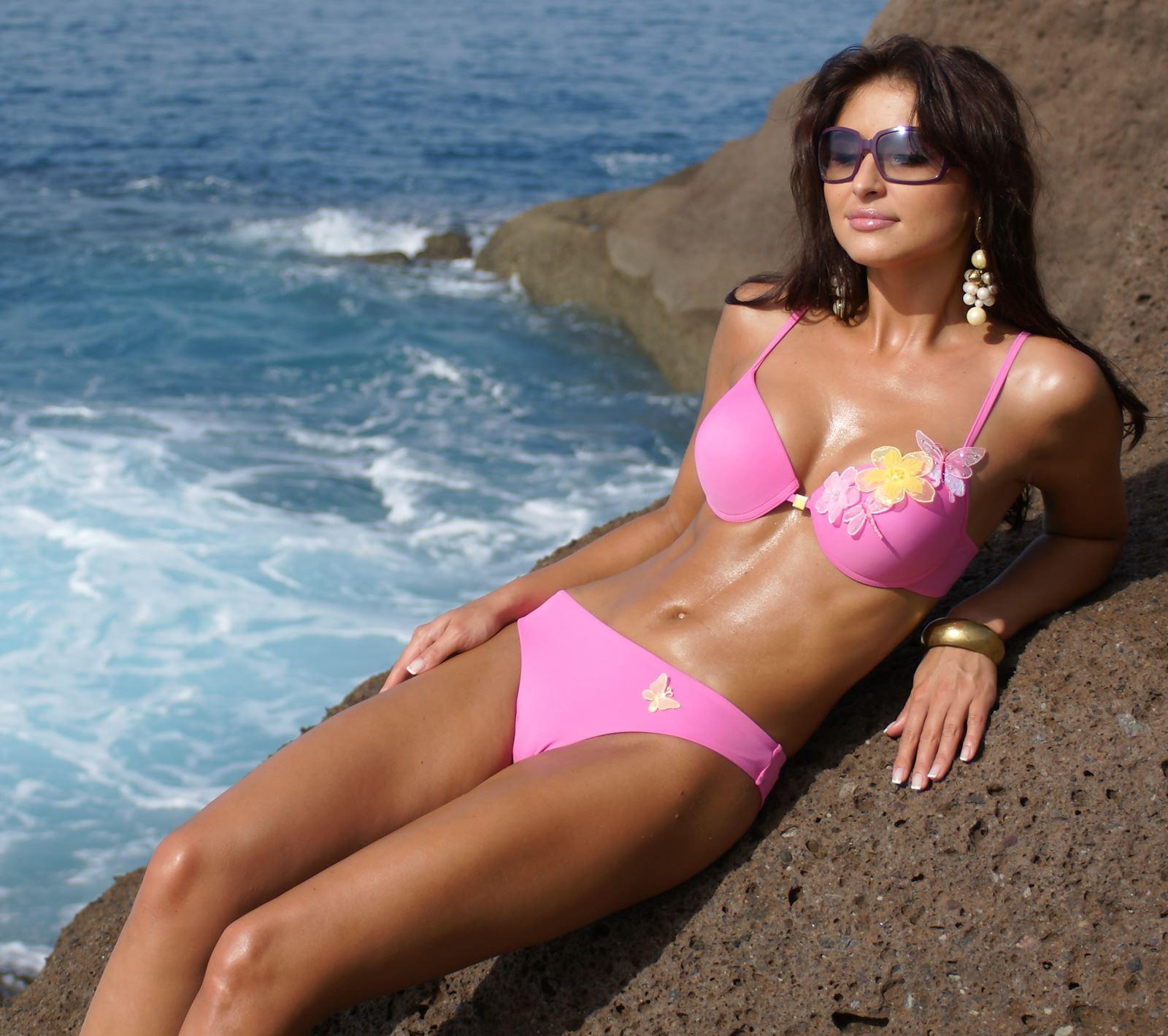 7e9b416fa2f08 Details about Padded Extra Uplift Push Up Designer Bikini Set Butterflys  New Swimwear