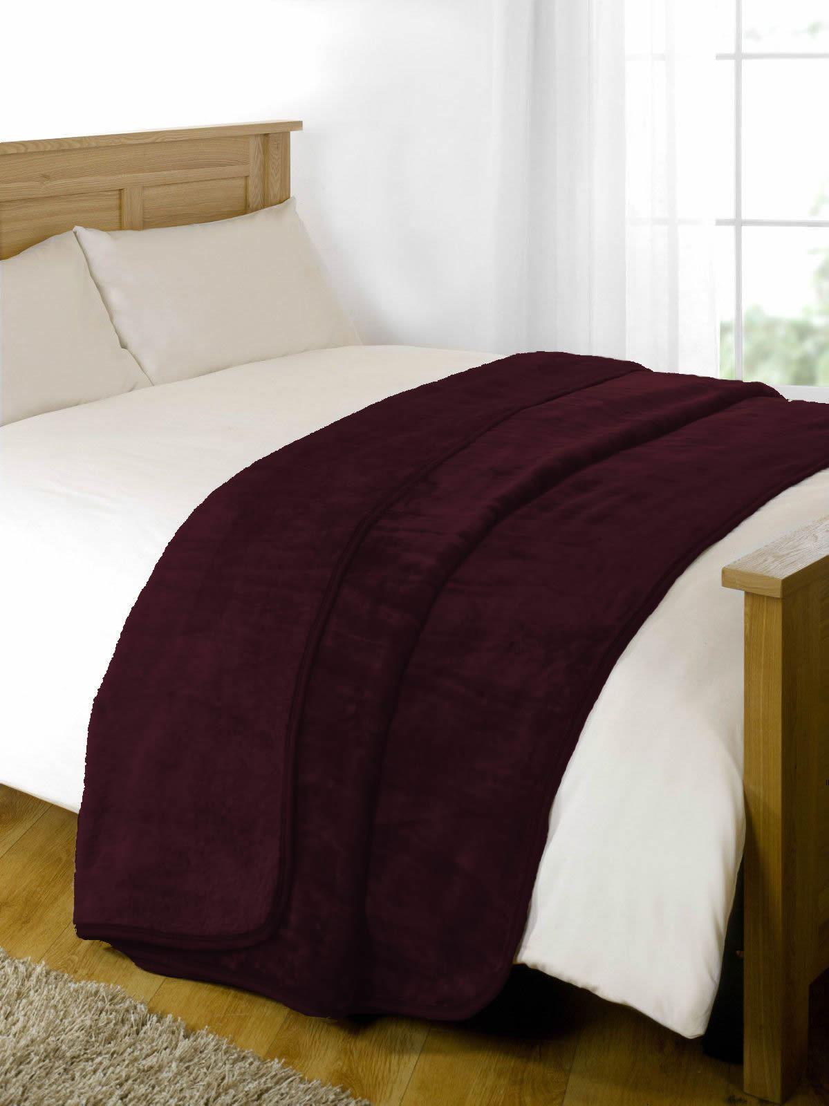 Large Faux Fur Blanket Luxury Soft Warm Heavy Mink Fleece