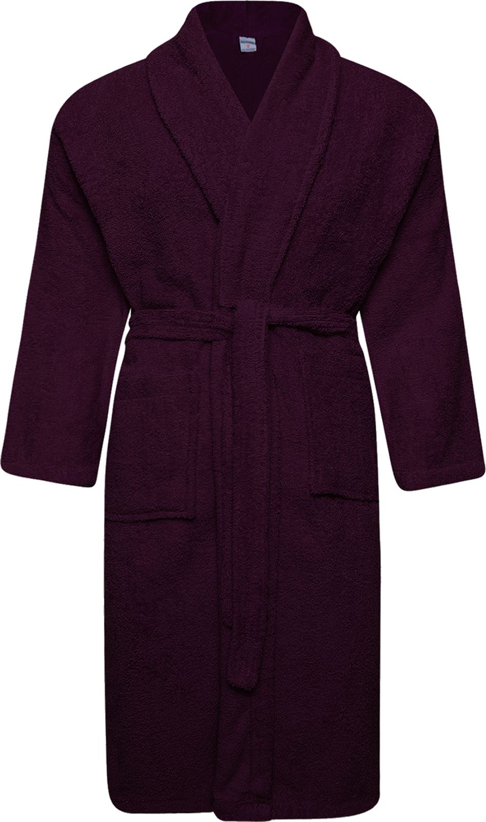 100% Cotton Terry Toweling Shawl Collar Purple Bathrobe Dressing ...