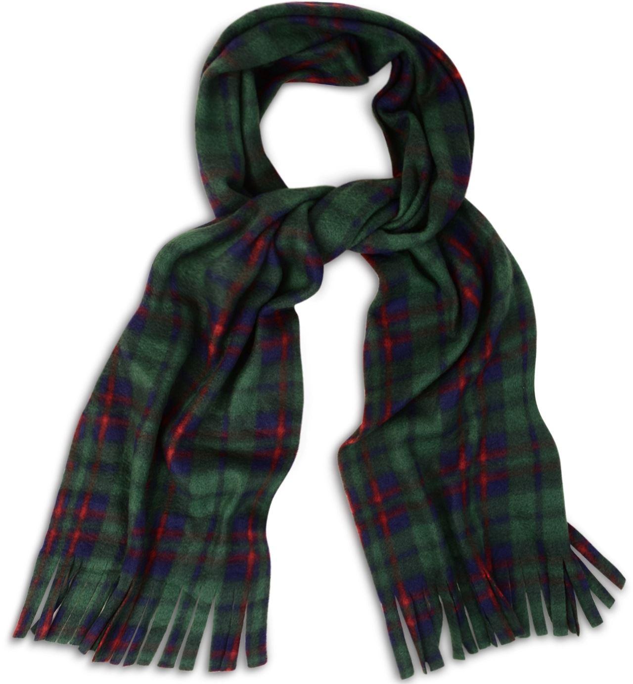 soft cosy and warm tartan check fleece scarf