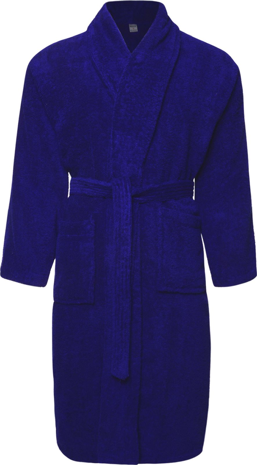 Details about Mens   Ladies Royal Blue 100% Cotton Terry Towelling Bathrobe  Dressing Gown Robe 788b563e3
