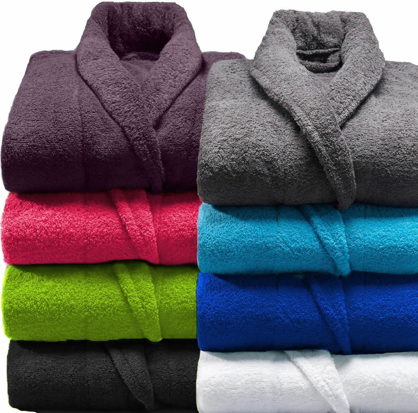 Details about Mens   Ladies 100% Cotton Terry Towelling Shawl Bathrobe  Dressing Gown Bath Robe 5a756321b