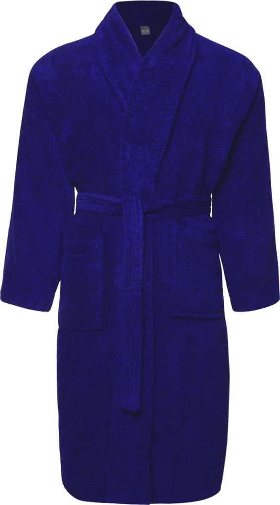 mens ladies royal blue 100 cotton terry towelling bathrobe dressing gown robe ebay. Black Bedroom Furniture Sets. Home Design Ideas