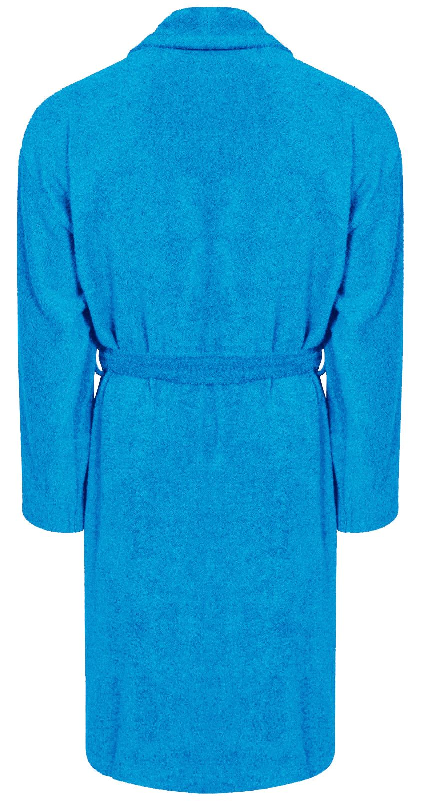 100% Cotton Terry Towelling Shawl Collar Aqua Bathrobe Dressing Gown ...