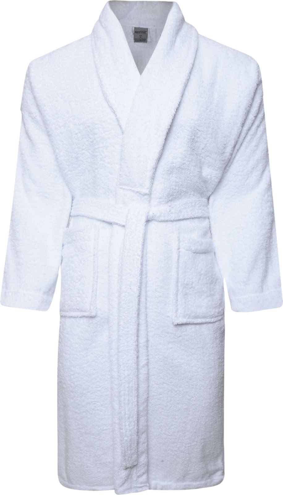 Men\'s Ladies 100% Cotton Terry Towelling Shawl White Bathrobe ...