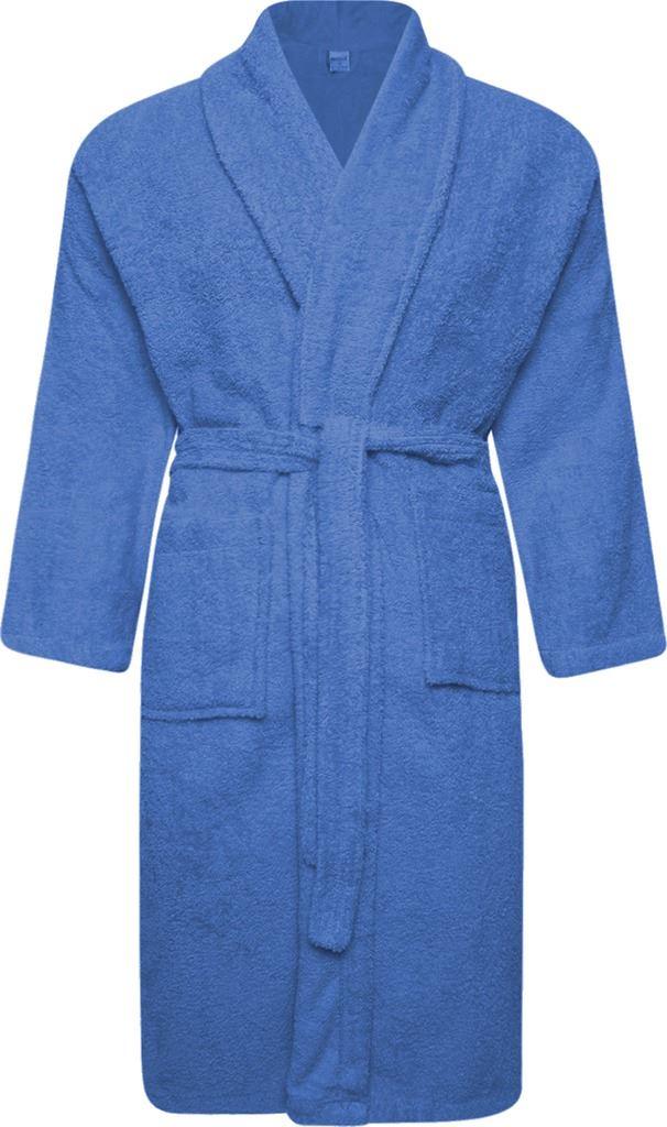Mens & Womens 100 Cotton Terry Towelling Shawl Collar Bath Robe ...