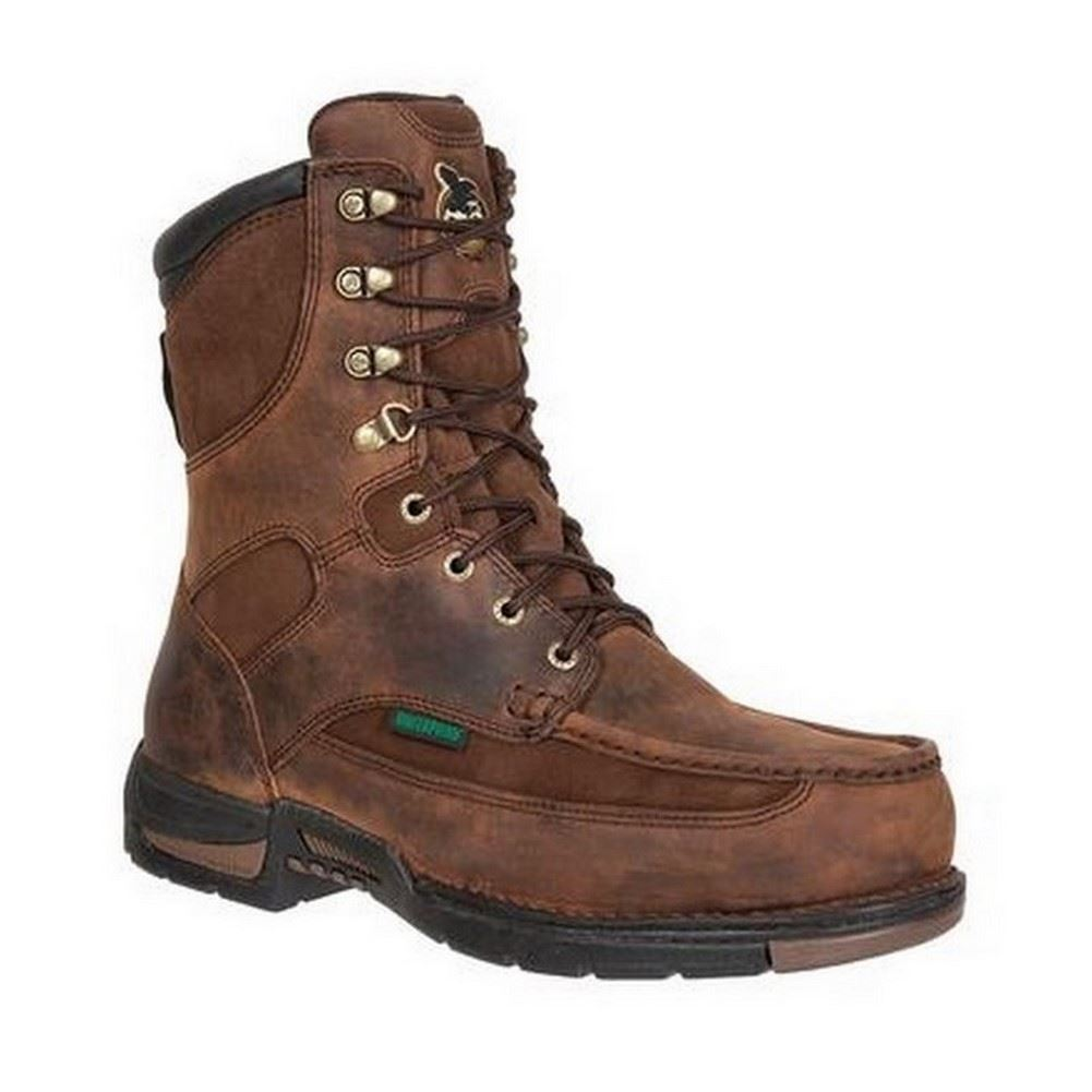 mens brown leather athens waterproof 8 quot work boots