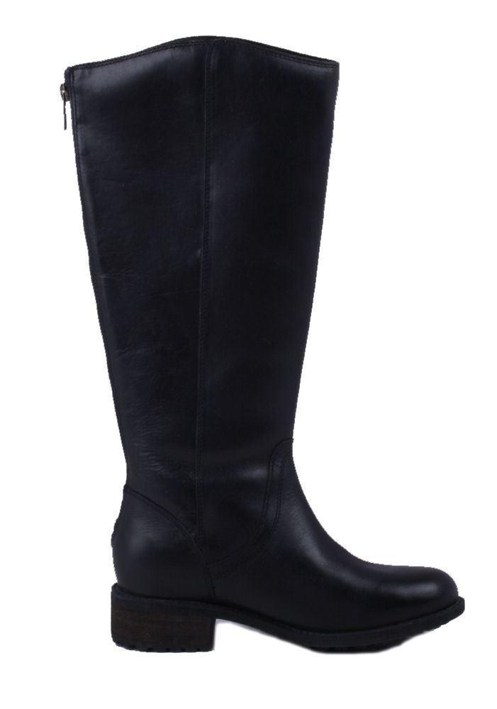 455b61fbc94 Ugg Seldon Leather Knee High Boots Black
