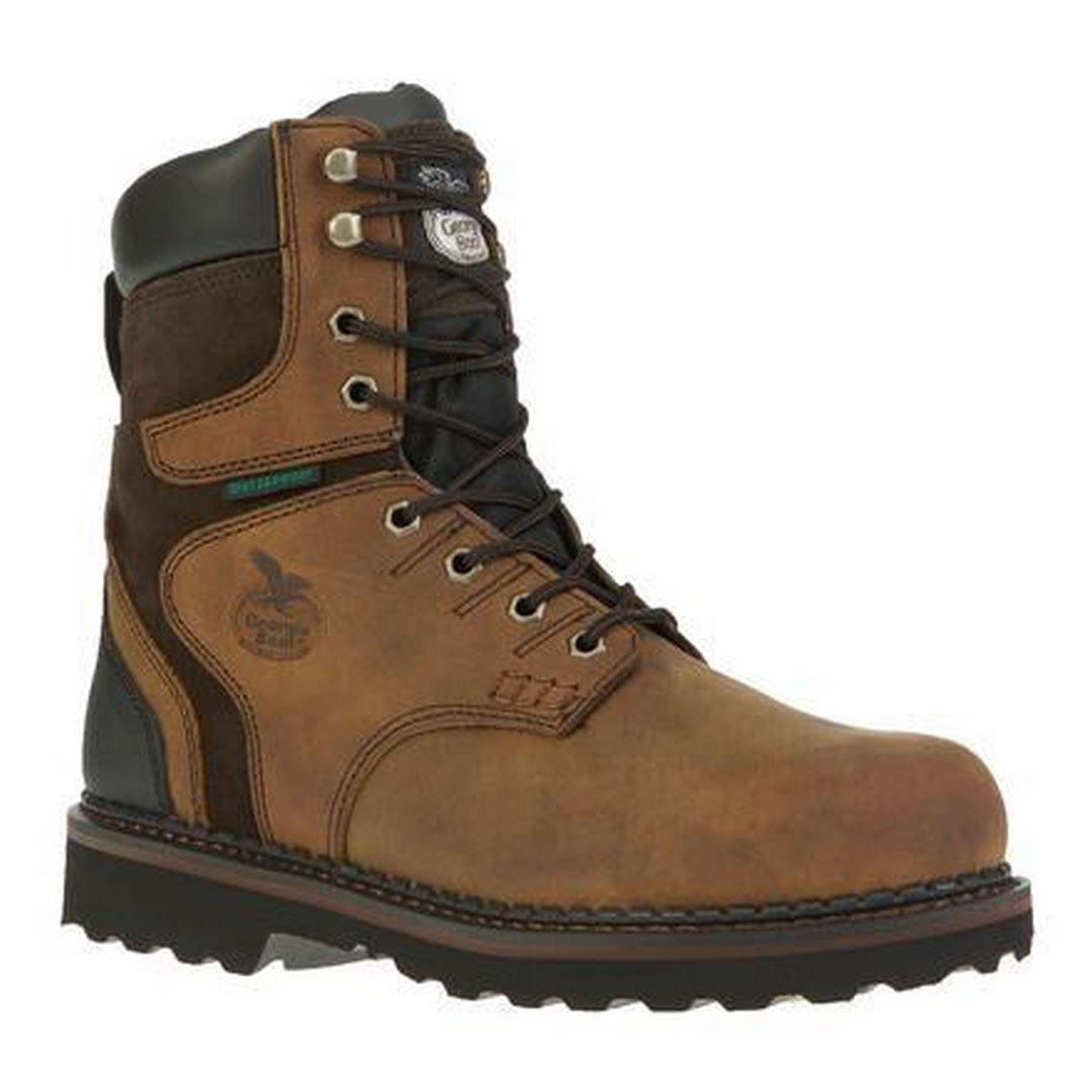 Scarpe casual da uomo  Georgia G9334 uomos Brookville Dark Brown Steel Toe Waterproof Work Boot