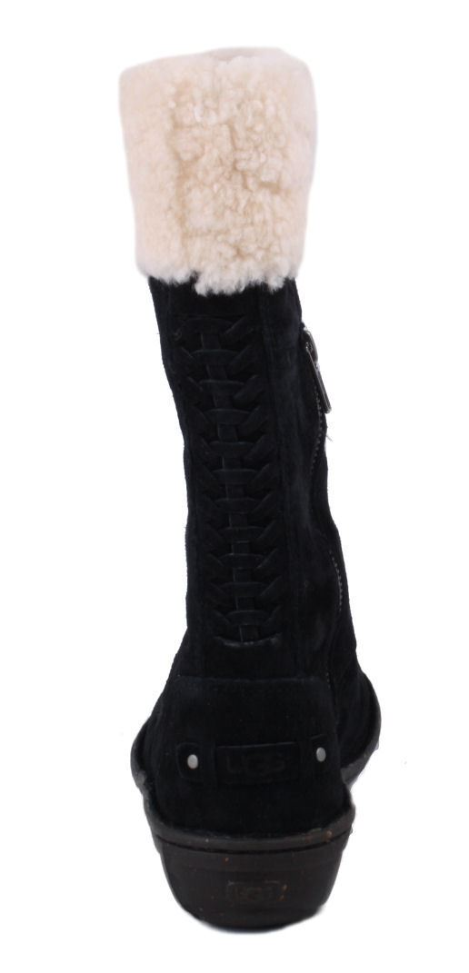 ugg australia karyn womens black suede mid calf winter