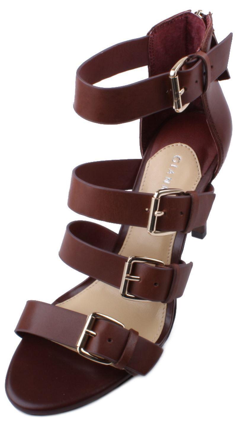 Gianni Bini Maxene Womens Black Leather High Heel Sandals size 7.5