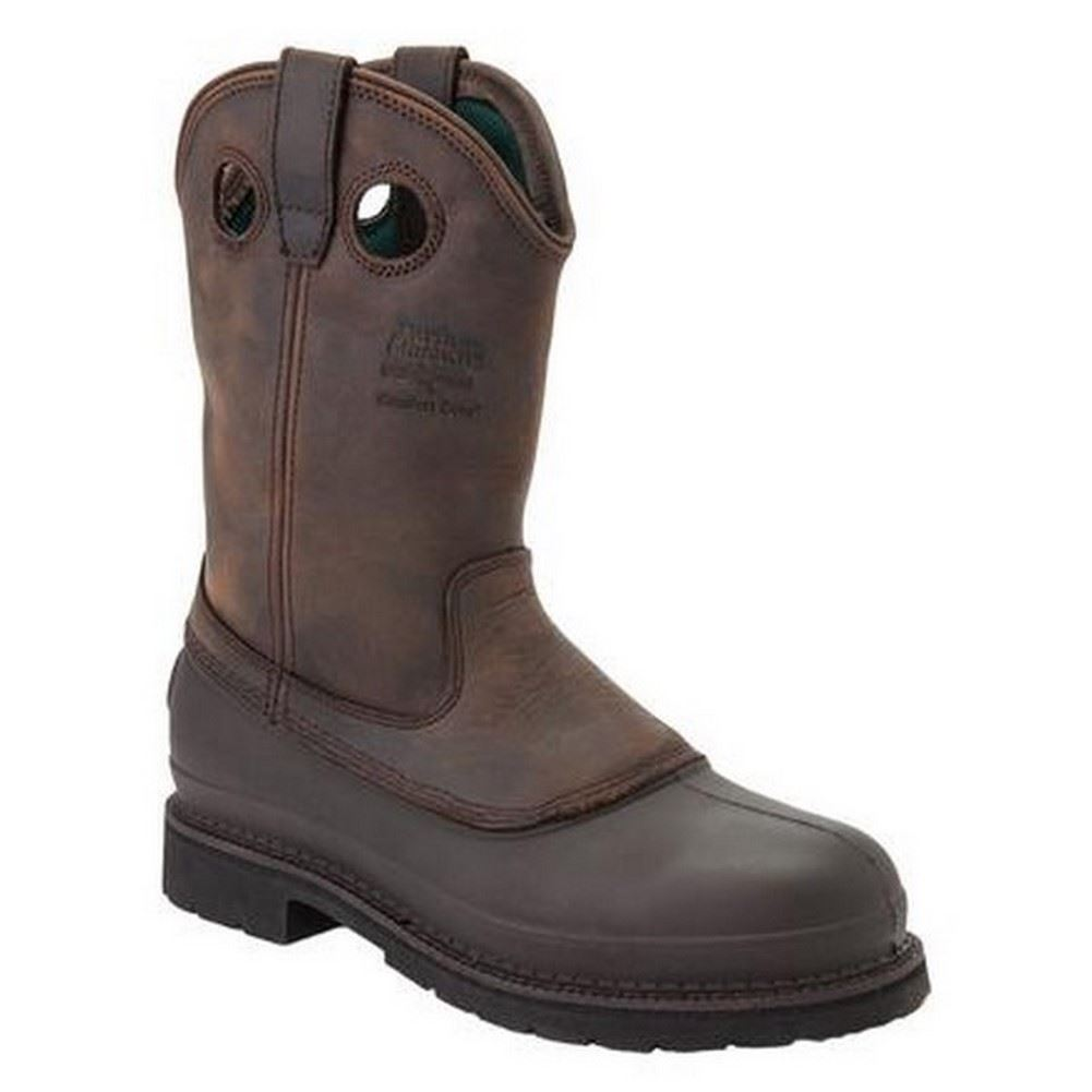 Georgia G5514 Mens Mississippi Brown Pull-On Muddog Comfort Core Work Boots
