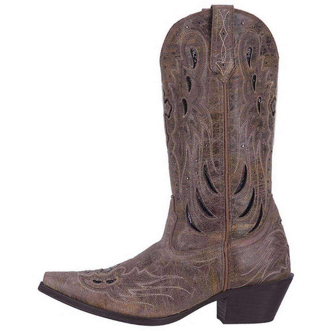laredo crosswing 52157 womens taupe goat leather western