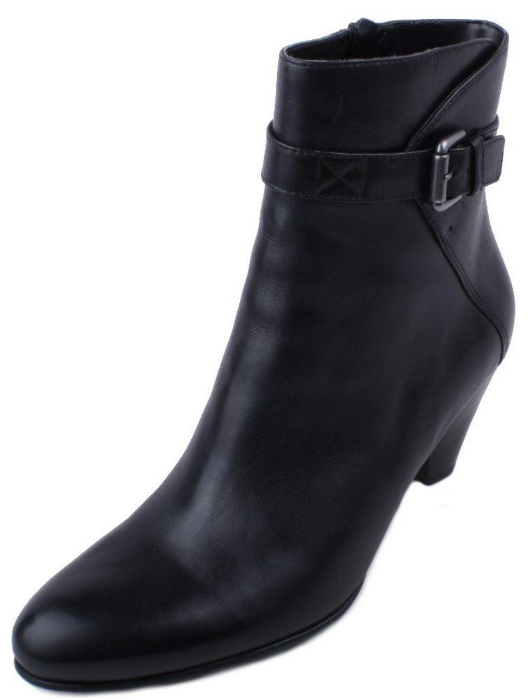 ecco black leather high heel dress fashion boots ebay