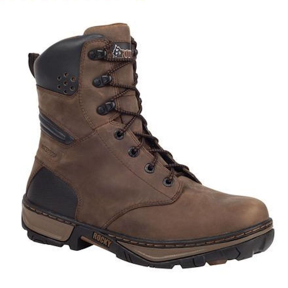 rocky rk061 forge mens brown waterproof insulated work boot