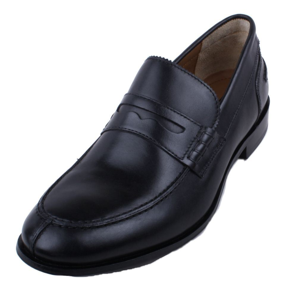 bostonian jesper park mens black leather slip on loafer