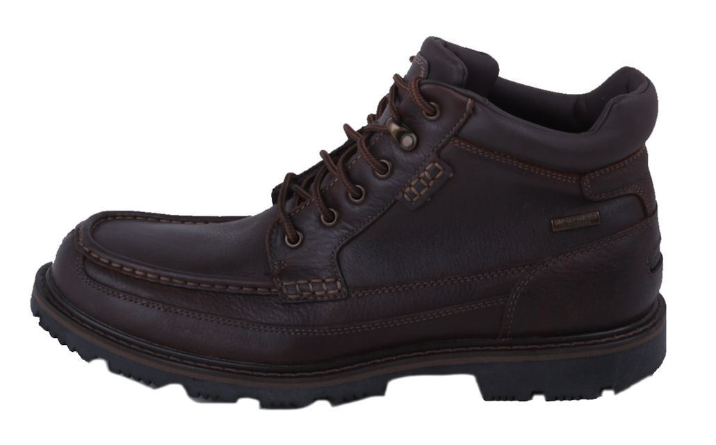 rockport gentlemen moc mens cocoa brown waterproof leather