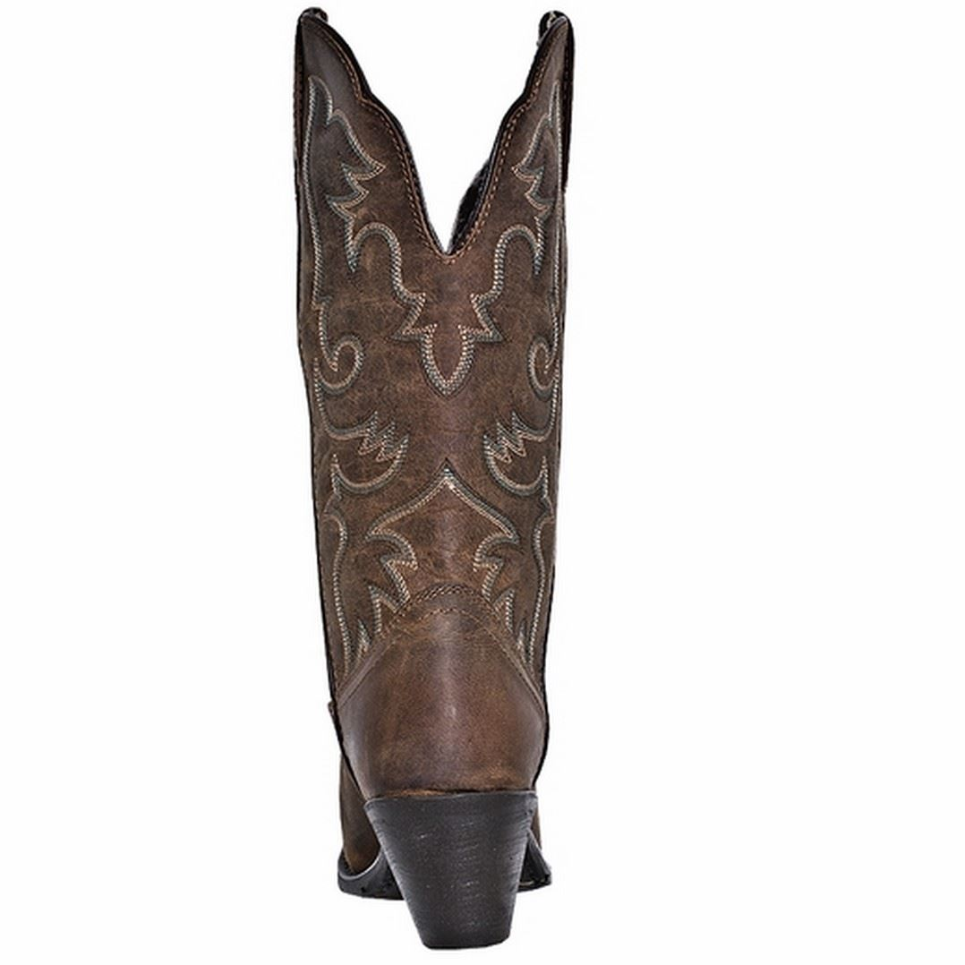 Tan Leather Western Shoes Ladies
