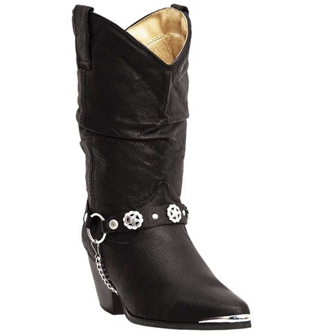 Dingo-Olivia-DI-522-Womens-Black-Pigskin-Slouch-Western-Boots thumbnail 9