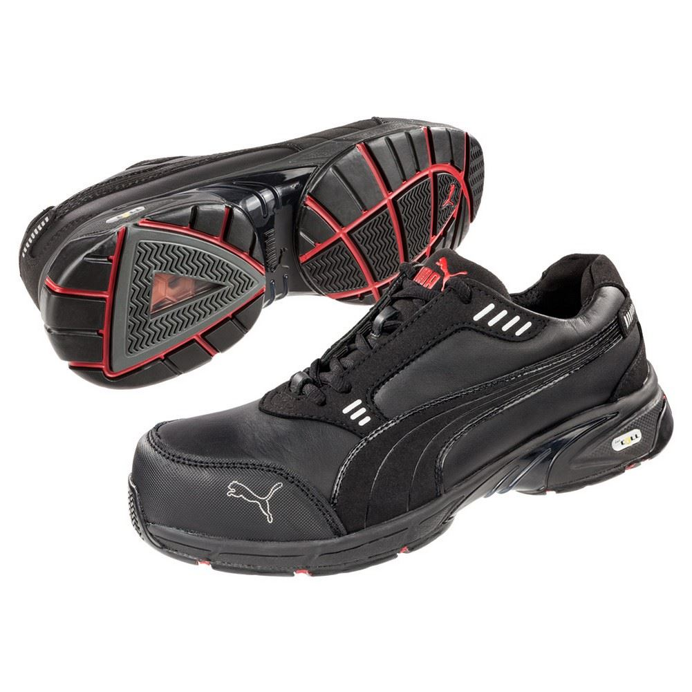 2213a01d288 Puma Safety 642575 Velocity Mens Black Low SD Composite Toe Work Shoes 1 of  1FREE Shipping ...